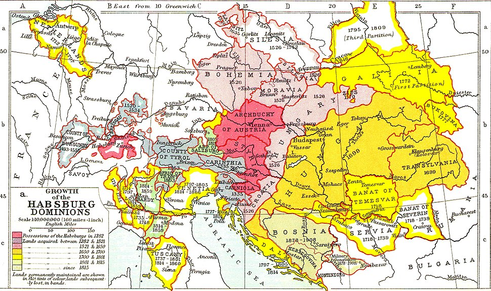 Growth of Habsburg territories