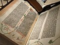 Gutenberg Bible in Beinecke Library - Yale University - New Haven - Connecticut - USA (41390014894).jpg