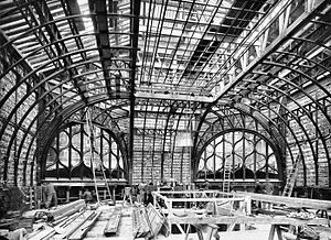 Hotel Gaillard - Construction of the Grand Lobby, conceived by the architect Alphonse Defrasse in 1921