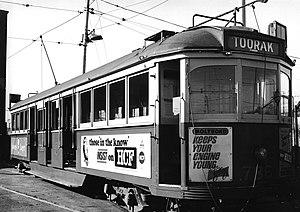 W-class Melbourne tram - A W5 class tram, 1969