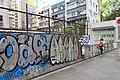 HK 上環 Sheung Wan 水坑口街 Possession Street footbridge 華里 Wa Lane wall picture 塗鴉 Graffiti June 2018 IX2 09.jpg