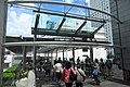 HK Central IFC mall glass wall windows blue sky June 2018 IX2 01.jpg