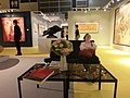 HK HKCEC Wan Chai 蘇富比 Sotheby's Preview 拍賣 預展 exhibition hall interior table chairs sleeping visitor Oct-2013.JPG