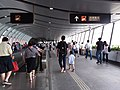 HK West Kln 廣深港高速鐵路 GSH XRL 香港西九龍站 entrance M exit covered footbridge interior n public holiday visitors Sept 2018 SSG 05.jpg
