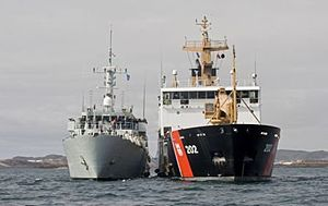 Operation Nanook - Image: HMCS Summerside and USCGC Willow during Operation Nanook 2011