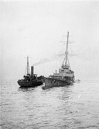 HMS Arethusa (1913) mined