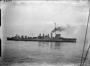 USS Craven (DD-70) - HMS Lewes