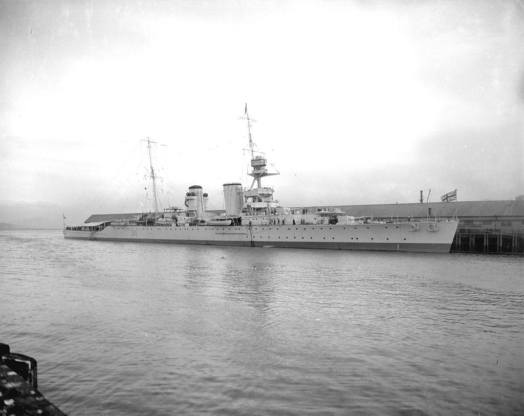 HMS Raleigh at Pier D Vancouver 1921
