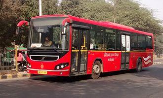 Haryana Roadways - A Haryana Roadways Volvo bus in Faridabad