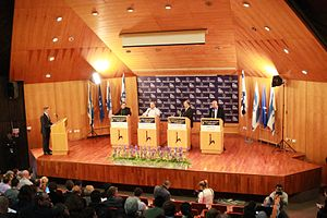 Debate chamber - Image: HUJI Election Debate (8361985738)