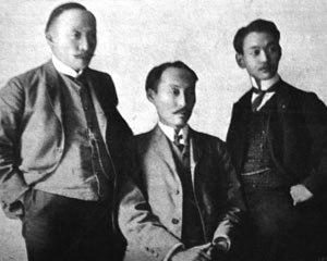 Hague Secret Emissary Affair - Yi Tjoune, Yi Sang-Seol, and Yi Wi-Jong (from left).