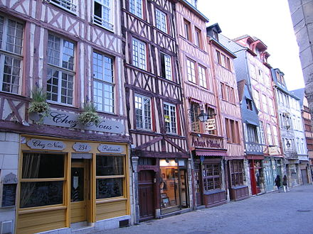 Half-timbered houses in Rouen HalftimberedHousesRouen2.JPG