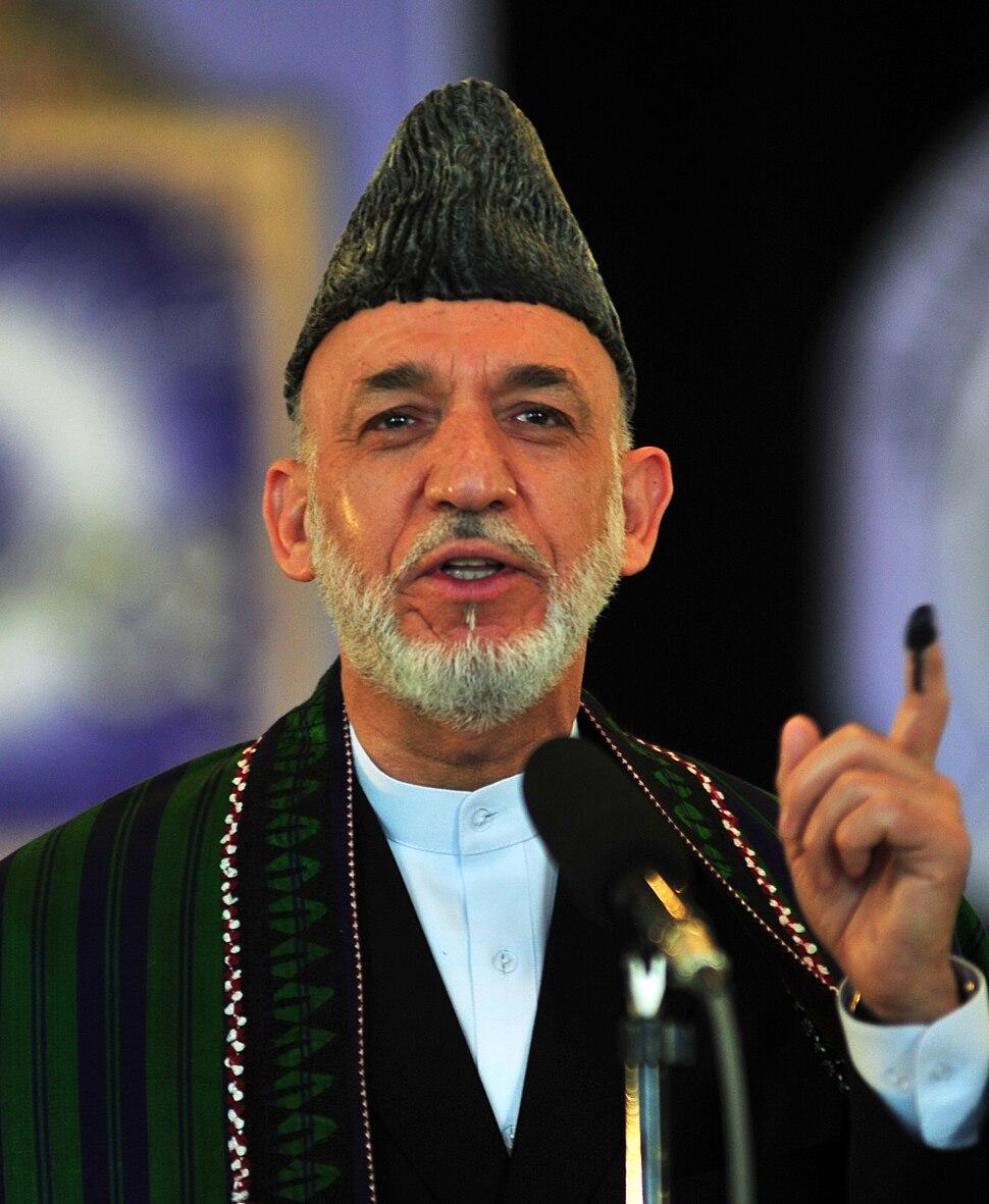 Hamid Karzai in June 2014