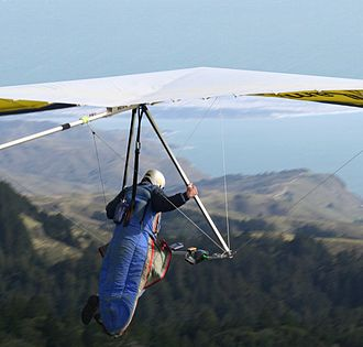 Extreme sport - Hang glider launching from Mount Tamalpais