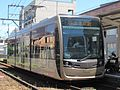 Hankai Tramway 1002 at Abikomichi Station.JPG