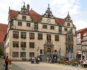 Weser Renaissance - The town hall (Rathaus) in Hann. Münden