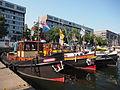 Happiness (tugboat, 1931) ENI 03310263, d'Ouwe Manus (tugboat, 1900) ENI 02208766, Corsy ENI 02335251, Port of Amsterdam.JPG
