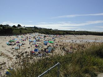 Harlyn - Harlyn beach on a busy summer day