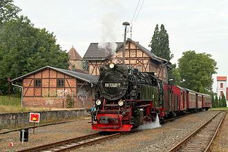Selke Valley Railway - Steam train in Harzgerode station