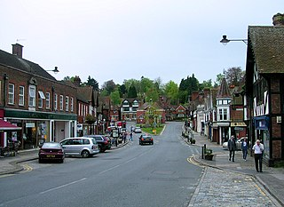 Haslemere town in Surrey, England