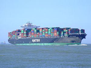 Hatsu Courage p4 approaching Port of Rotterdam, Holland 04-Aug-2007.jpg