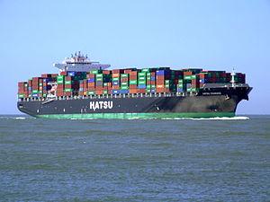 Hatsu Courage p5 approaching Port of Rotterdam, Holland 04-Aug-2007.jpg