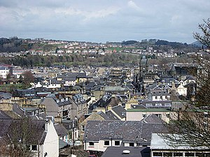 Hawick - Image: Hawick from the top of the Motte geograph.org.uk 767662