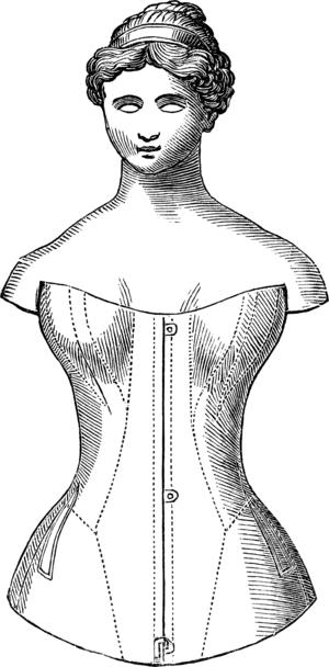 Roxey Ann Caplin - A corset invented by Roxey Ann Caplin.