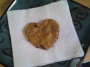 A heart-shaped cookie