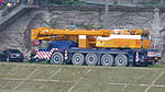 Heavy Crane Truck Parked at Nanhu Riverside Park South 20150204.jpg