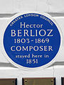 Hector BERLIOZ 1803-1869 COMPOSER stayed here in 1851.JPG