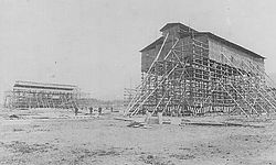 Heian Jingu under construction.JPG