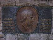 Tafel am Heinsedenkmal Langewiesen (Quelle: Wikimedia)
