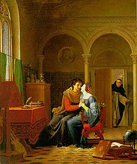 Abelard and Heloise Surprised by the Abbot Fulbert