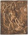 Hendrick Goltzius, Herkules a Kakus (1588), Šerosvitový dřevořez, III. stav., papír 409 x 328 mm, Sbírka grafiky Národní galerie v Praze.jpg