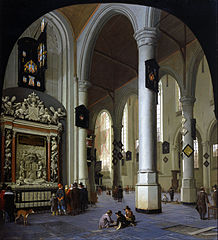 Old Church in Delft with the Tomb of Admiral Tromp