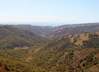 Henry W. Coe State Park - Looking west over Hunting Hollow, at the south end of the park