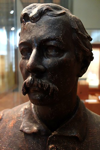 Charlotte Dubray - Henry Morton Stanley, plaster, presented by the Duke of Sutherland to the Royal Geographical Society