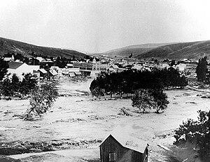 Heppner flood of 1903 - Downtown Heppner during the flood