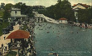 Hersheypark - Hersheypark's second pool, circa 1924-1928.