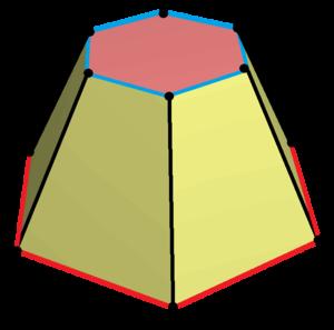 Hexagonal prism - Image: Hexagonal frustum 2