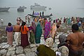 Hindu Devotees Taking Holy Dip In Ganga - Makar Sankranti Observance - Baje Kadamtala Ghat - Kolkata 2018-01-14 6515.JPG