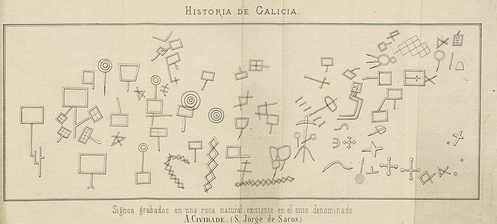 Historia de Galicia-Manuel Murguía-debuxos dos petróglifos da Cividade