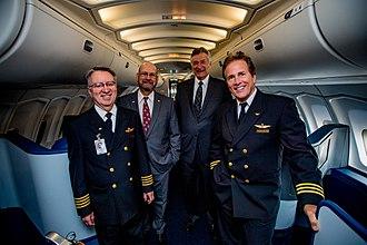 Northwest Airlines Flight 85 - Flight 85's crew members at Delta Flight Museum, March 28 2017.