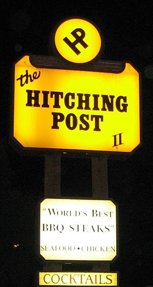 Sideways - The Hitching Post II Restaurant in Buellton where Miles and Jack first encounter Maya.