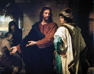 "Jesus and the rich young man - ""Christ and the Rich Young Ruler"" by Heinrich Hofmann"