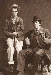 Lord Alfred Douglas and Oscar Wilde.