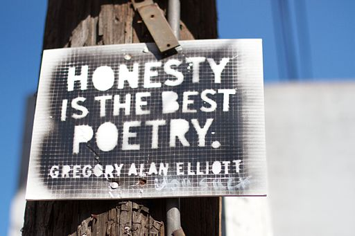 Honest is the Best Poetry. -- Gregory Alan Elliott