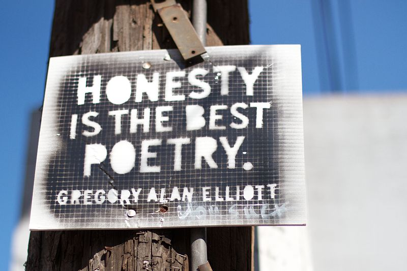 File:Honest is the Best Poetry. -- Gregory Alan Elliott.jpg