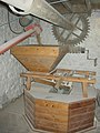 Hopper feeding the millstone of the corn mill, Little Salkeld - geograph.org.uk - 280329.jpg